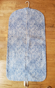 Blue Paisley Hanging Garment Bag