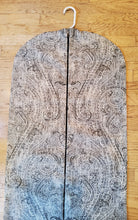 Load image into Gallery viewer, Black Paisley Hanging Garment Bag