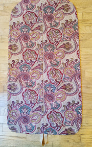 Camel and Red Paisley Hanging Garment Bag