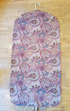 Load image into Gallery viewer, Camel and Red Paisley Hanging Garment Bag