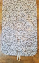 Load image into Gallery viewer, Beige Damask Look Hanging Garment Bag