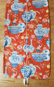 Red Chinoiserie Garment Bag