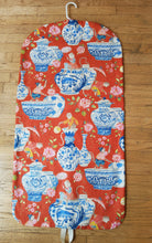 Load image into Gallery viewer, Red Chinoiserie Garment Bag