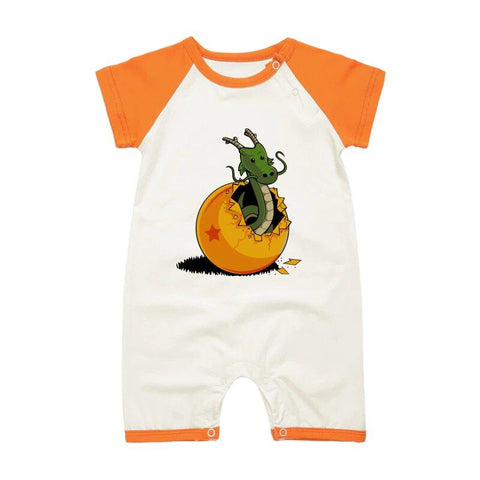 DBZ The Marvelous Shenron Orange Short Sleeve Baby Romper - DBZ Saiyan