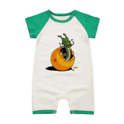 DBZ The Marvelous Shenron Green Short Sleeve Baby Romper - DBZ Saiyan