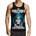 SSGSS Vegeta - The Whole World Is Against Me Tanktop - DBZ Saiyan