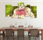 DBS Kale Powerful Female Asymmetrical 5pcs Wall Art Canvas Print - DBZ Saiyan
