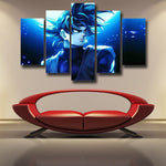 Dragon Ball Goku Black Fan Art Illustration 5pc Decor Canvas - DBZ Saiyan