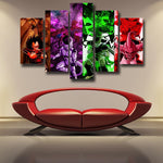 Super Villian Raditz Frieza Cell Kid Buu Design 5pc Wall Art Decor - DBZ Saiyan