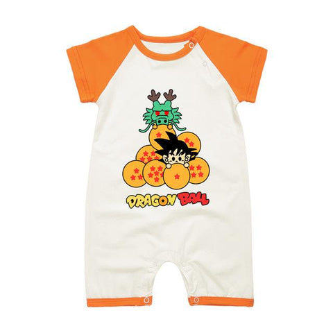 DBZ The Legendary Shenron And Kid Goku Orange Baby Romper - DBZ Saiyan