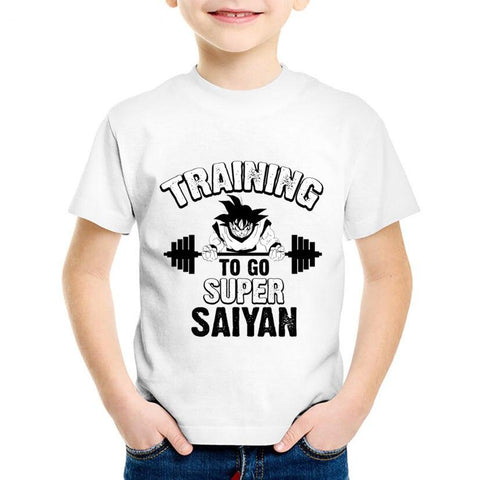 Dragon Ball Z Goku Training To Go Super Saiyan Kids T-Shirt - DBZ Saiyan