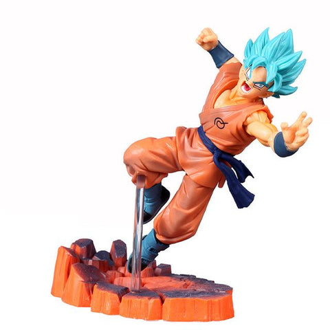 Dragon Ball Z Super Saiyan Blue Hair Son Goku Action Figure - DBZ Saiyan