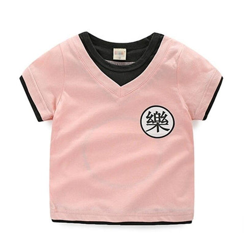 Dragon Ball Z Yamcha's Kanji Cosplay Pink Kids T-Shirt - DBZ Saiyan