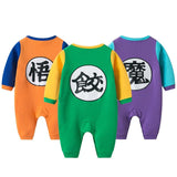 Dragon Ball Z Kanji Symbols Long Sleeve Cosplay Baby Jumpsuit - DBZ Saiyan