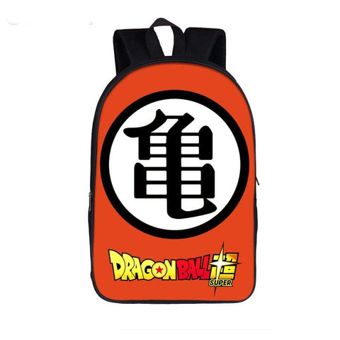Dragon Ball Z Master Roshi Turtle Kanji Orange Backpack Bag - DBZ Saiyan