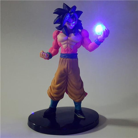 DBZ Smirking Super Saiyan Goku 4 Ki Blast DIY 3D LED Light Lamp - DBZ Saiyan