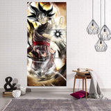 Black Goku Zamasu Villain Hole Fusion Cool 3Pc Canvas Print - DBZ Saiyan