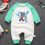 Dragon Ball Z Fearless Goku Blue Long Sleeve Baby Jumpsuit - DBZ Saiyan