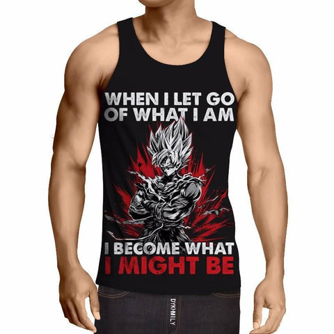 Goku - Become What I Might Be Tanktop - DBZ Saiyan