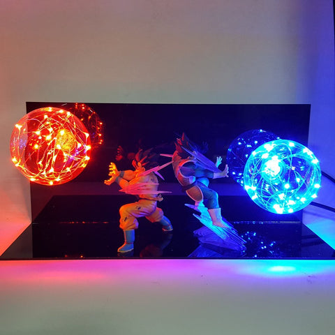 Dragon Ball Z Vegeta & Goku Led Lighting Lamp - DBZ Saiyan
