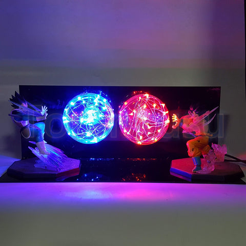 Goku Kamehameha Wave Vegeta Final Flash Ball DIY 3D LED Light Lamp - DBZ Saiyan