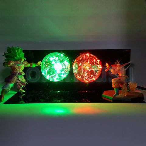 SSJ3 Super Saiyan Broly VS Son Goku Battle LED Lamp Set - DBZ Saiyan