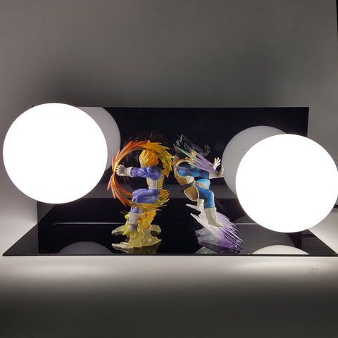 DBZ Vegeta Super Saiyan Final Flash & Super Galick Gun White DIY 3D Light Lamp - DBZ Saiyan