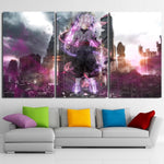 DBZ Goku Black Modern City Decor 3pc Poster Canvas Prints - DBZ Saiyan