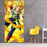 Dragon Ball Bardock Super Saiyan Ki Blast 3Pc Canvas Print - DBZ Saiyan