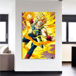 Dragon Ball Bardock Super Saiyan Ki Blast 1Pc Canvas Print - DBZ Saiyan