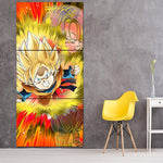 Dragon Ball Goten Trunks Kid Angry Aura 3Pc Canvas Print - DBZ Saiyan