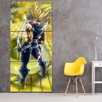 Dragon Ball Vegeta Powerful Back Portrait 3Pc Canvas Print - DBZ Saiyan