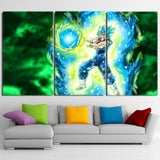 Vegito Super Saiyan Kamehameha Power Attack 3pc Wall Art Canvas - DBZ Saiyan