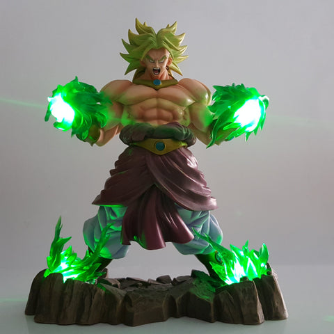 DBZ Enraged Super Saiyan Broly Green Aura With Base DIY 3D LED Light Lamp - DBZ Saiyan
