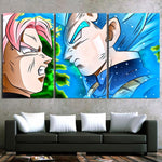 DBZ Goku Black Vs Vegeta Super Saiyan God Dope 3pc Canvas Print - DBZ Saiyan
