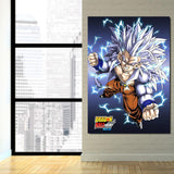 Dragon Ball AF Son Goku SSJ5 Powerful 1Pc Canvas Print - DBZ Saiyan