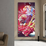 Dragon Ball Goku Red Shenron Fan Art Anime 3Pc Canvas Print - DBZ Saiyan