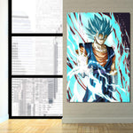 Dragon Ball Lighting Angry Vegito Ki Blast 1Pc Canvas - DBZ Saiyan