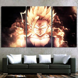 Dragon Ball Z Super Saiyan Aura SSJ2 Son Gohan 3pc Canvas Print - DBZ Saiyan