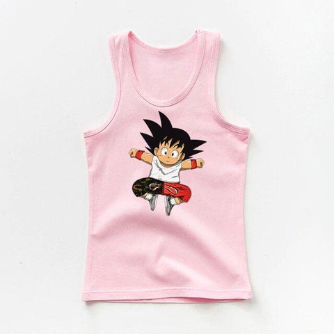 DBZ Adorable Kid Goku In His Cool Outfit Kids Tank Top - DBZ Saiyan