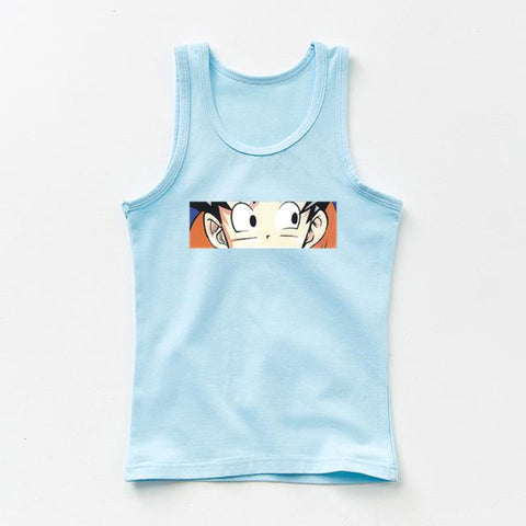 Dragon Ball Z Peeking Son Goku Spy-Like Cool Kids Tank Top - DBZ Saiyan