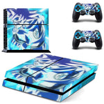 Blue Goku Kamehameha HD Cool PS4 Console Controllers Skin Decal - DBZ Saiyan