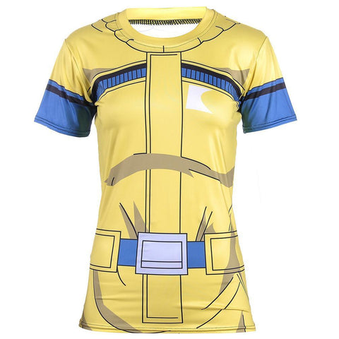Bulma Travel Costume Fitness 3D Compression Women T-shirt - DBZ Saiyan