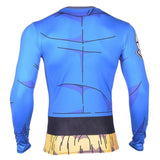 DBZ Cosplay Future Trunks Gear 3D Workout Long Sleeves T-Shirt - DBZ Saiyan