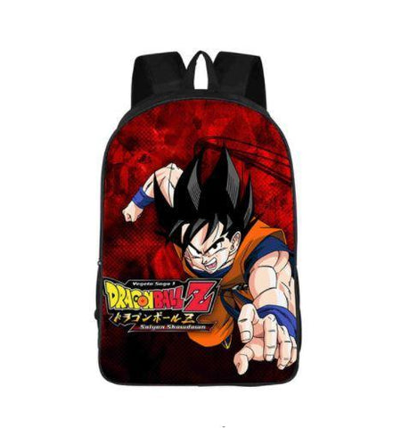 DBZ Goku Attack Poster Style Printed School Backpack Bag - DBZ Saiyan