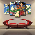 DBZ Goku Kid Piccolo Krillin 5pc Wall Art Decor Posters Canvas Prints - DBZ Saiyan