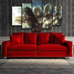 DBZ Goku Saiyan Evolution 5pc Wall Art Decor Posters Canvas Prints - DBZ Saiyan