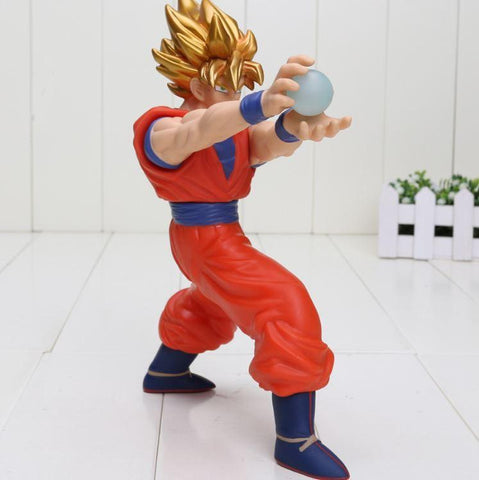 DBZ Super Saiyan Son Goku Kamehameha Energy Attack PVC Action Figure - DBZ Saiyan