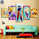 Dragon Ball Z Canvas Wall Art <br>Super Saiyans - DBZ Saiyan