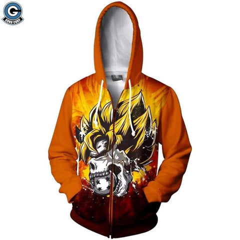 Dragon Ball Z Jacket <br>Super Saiyan Skull - DBZ Saiyan